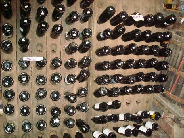 les bouteilles de la recolte 2009
